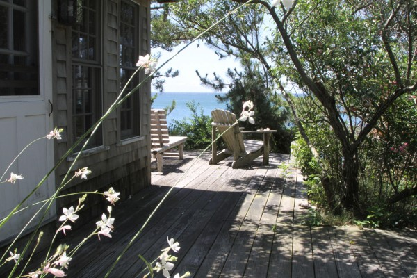 Romantic Deck Chairs at Beach Cottage
